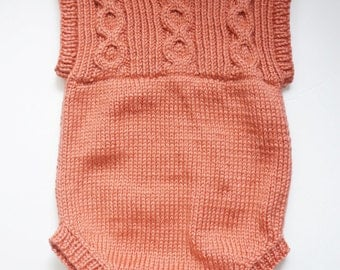 Infant and Toddler; Boys and Girls Hand Knit Romper for winter wear