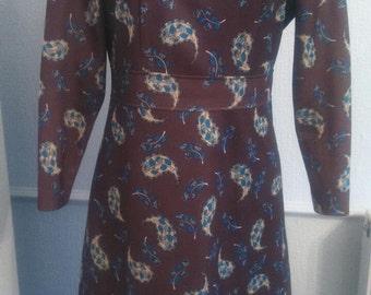 Beautiful 1970's Paisley Pattern dress