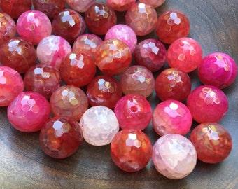 40% OFF Fuchsia Fire Agate Gemstone Beads