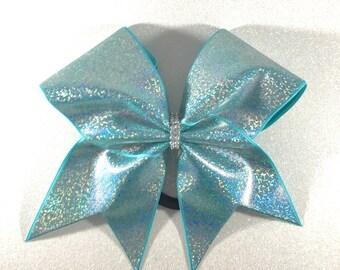 Ice Blue Cheer Bows // Big Cheer Bows // Team Cheer Bows // Cheer Practice Wear // Bling Bows // Cheerleading Gifts // Softball Bows