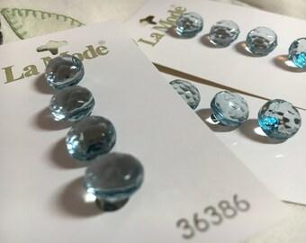 Vintage La Mode Aqua Blue Buttons #36386