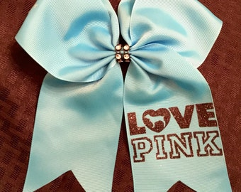 PINK Hair Bow / Softball Bow / Cheer Bow / Volleyball Bow