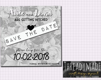 Wedding Save the Date Square Design