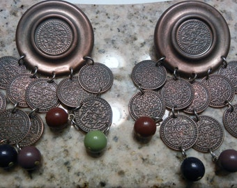 Mixed Metals Pierced Earrings - FREE Shipping