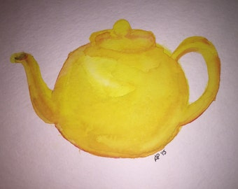 Watercolor Teapot
