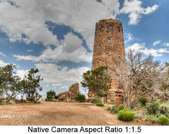 Canyon Watchtower: Architectural art photography prints for home or office wall decor.