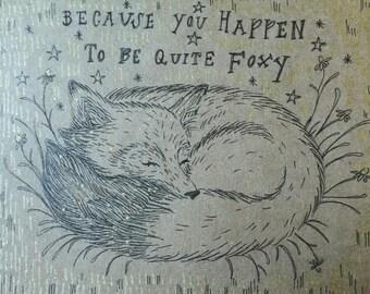 Handmade Fox Card