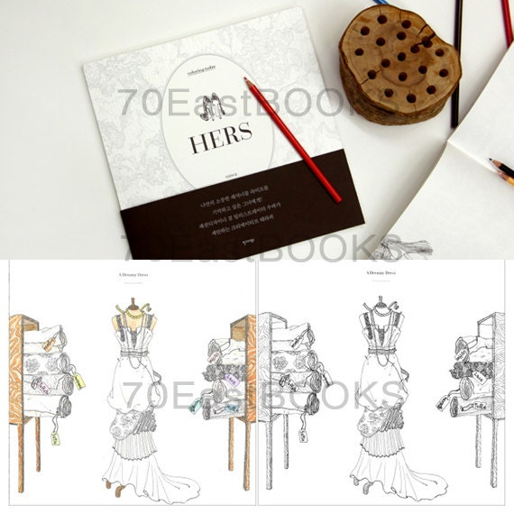 Hers Coloring Book Today By SUWA Girls And Fashion Illustrations Korean Colouring