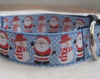 christmas dog collar or matching leash snowman