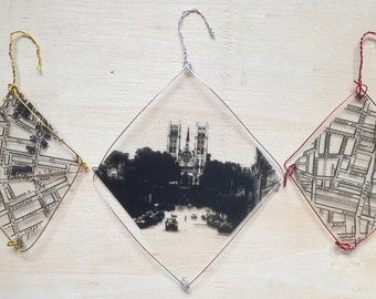 Guelph map and church ornaments