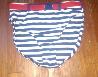 Vintage Retro Swimsuit Stripe Bottom