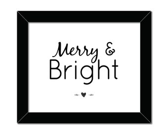 Merry and Bright | 8x10 | Holiday Print | Home Decor | Instant Download