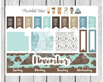 Freestyle Planning - November Monthly Kit - planner stickers