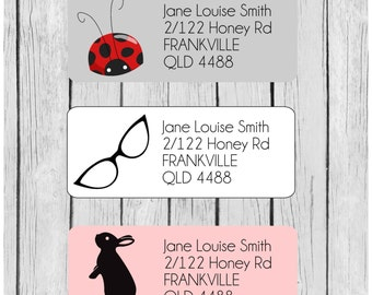 Get Organised! personalized return address labels - planner stickers