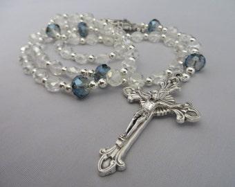 Catholic Crystal Beaded Rosary