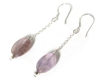 Amethyst 925 silver earings