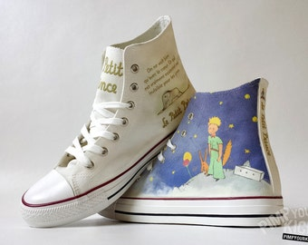 The Little Prince / Le Petit Prince inspired custom shoe decoration