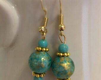 Turquoise Blue Drop Earrings