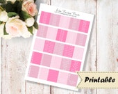Rose: Headers (header) and little things - stickers for vertical Erin Condren life Planner to the print (Download - printable)