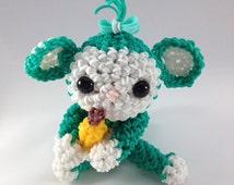 Loomigurumi Turquoise Monkey