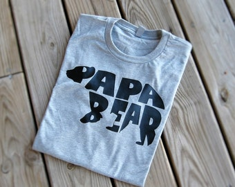 Papa Bear Shirt, Papa Shirt, Papa Gifts, Dad Gifts, Dad Birthday, Dad TShirt, Dad To Be, Father's Day Gift, Gift For Him, Pregnancy Reveal