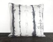 gray pillow, throw pillow cover, 20x20 pillow cover, grey pillow cover, tie dye, tye dye, bohemian, modern design, house warming gift, boho