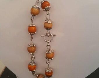 Handmade Eyepin Bracelet with Matching Earrings