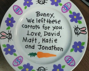 Personalized Easter Plate