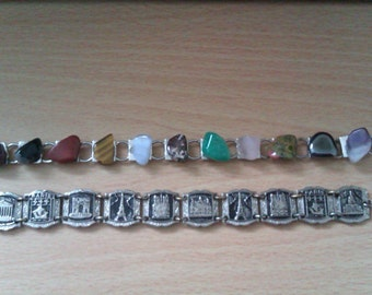 vintage silver coloured bracelets