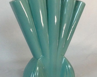 1950s Brush Quality USA Turquoise Vase