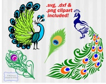 Peacock SVG Files , Peacock clipart, Peacock dxf, .svg, .dxf, peacock feather, vector, svg files for silhouette, svg files for cricut, dxf