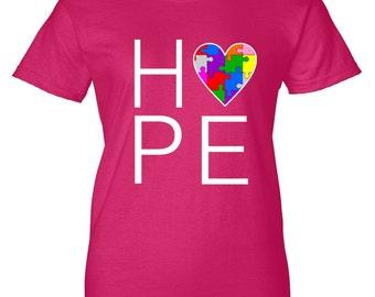 Hope Love Autism Women's T-Shirt