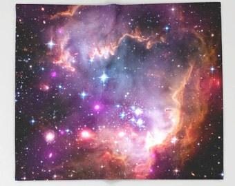 Galaxy Fleece Throw Blanket, Universe Stars Space, Outer Space Decor, Home Decor, Small Magellanic Cloud