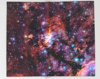 Nebula Throw Blanket, Nebula Galaxy Stars Sky, Outer Space Decor, Home Decor, Prawn Nebula