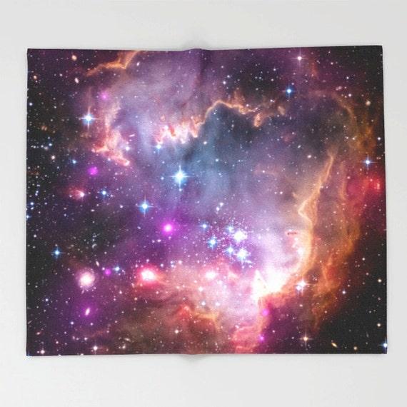 Galaxy fleece throw blanket universe stars space outer space for Outer space fleece