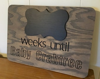 Baby Countdown, Weeks Until Baby Arrives, Due Date Countdown, Pregnancy Gift, Customized Baby Gift