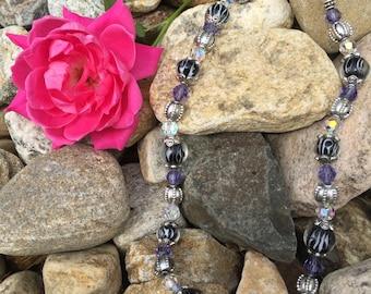 Purple Splash Necklace