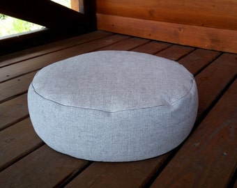 Zafu / Organic Hemp floor cushion with Buckwheat hulls /Organic Meditation cushion/buckwheat/ pillow seat/Meditation Yoga Organic/Natural