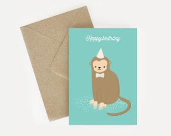 Map Monkey birthday / Happy birthday