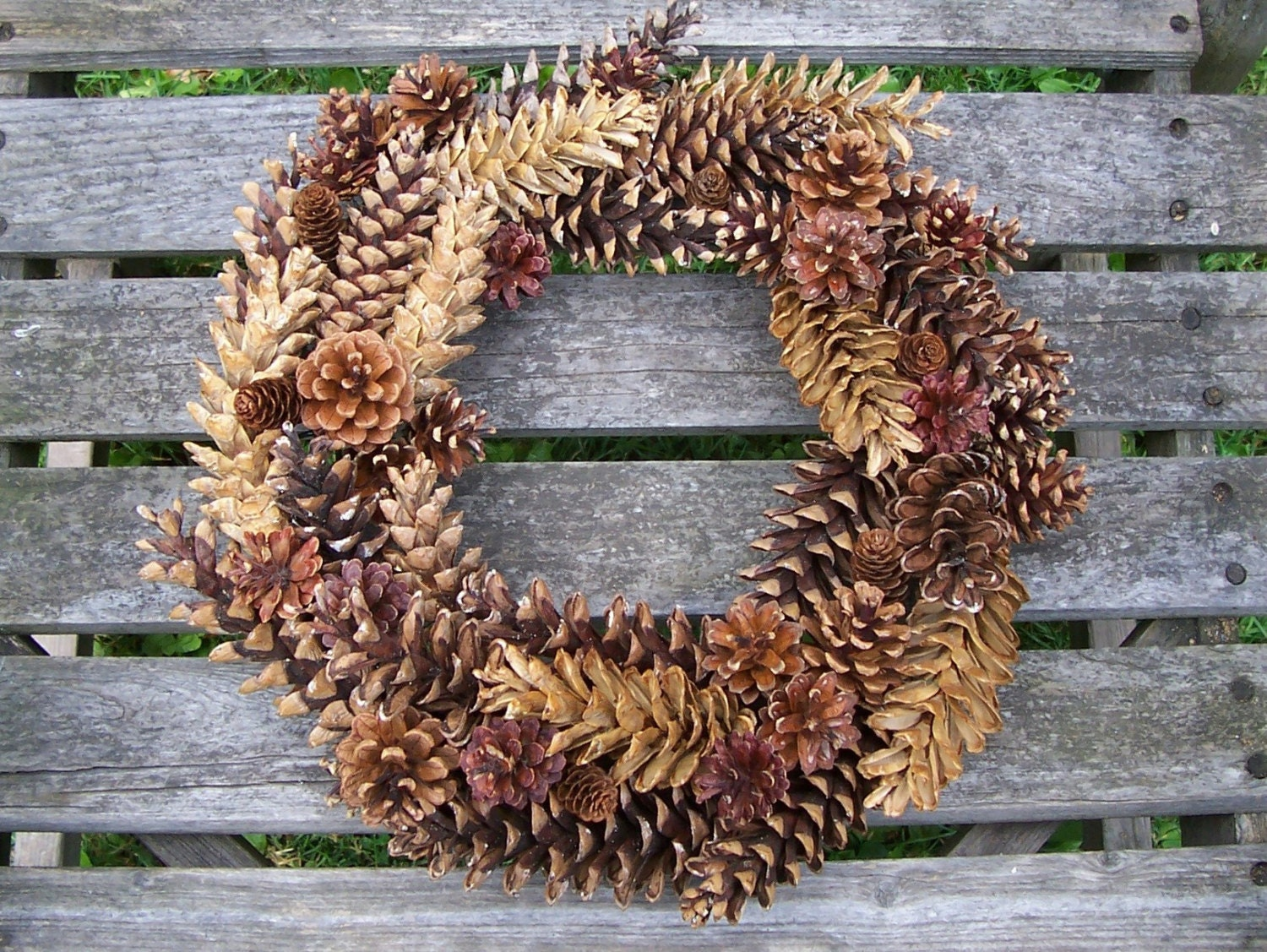 Natural Pine Cone Wreath To Embellish Or Leave As Is Door