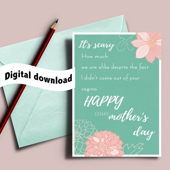 Printable Mothers Day Cards For: Printable Mother's Day Card Card For Stepmom Adoptive