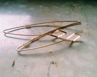 Diamond drop earrings-unique piece