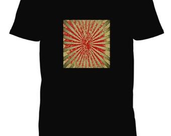 sunburst design black t-shirt