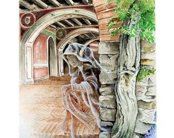 Aloisa - Original watercolour paintings  by Andrea Rossi