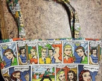 Comic strip purse hand bag funny bag girl comic strip