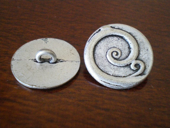 Metal buttons round curly q with shank jewelry making for Buttons with shanks for jewelry