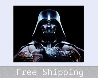 Darth Vader - Star Wars - Canvas Print - Custom Size -  Valentines gift - Wall Decor - Free Shipping