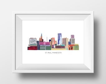 St.Paul Skyline Print
