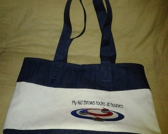 Tote Bag with curling theme