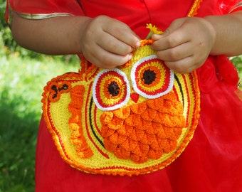 Crochet bag pattern, crochet owl pattern, crochet purse pattern, crochet pattern Owl Bag, crochet owl purse, crochet owl, crochet bag,